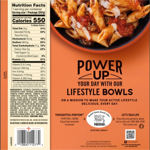 Life Cuisine™ Pasta Bolognese Bowl Frozen Meal Perspective: back