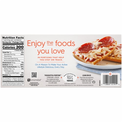 Lean Cuisine® Favorites French Bread Pepperoni Frozen Pizza Perspective: back