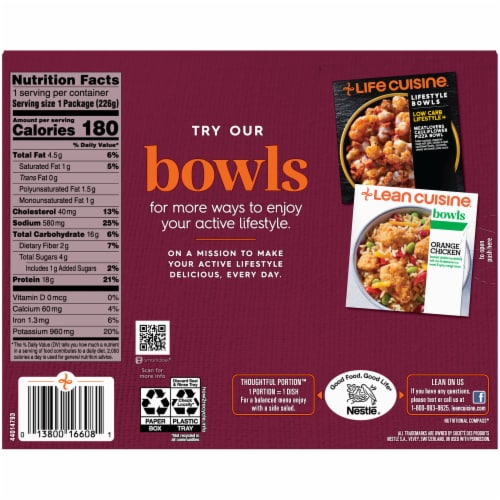 Lean Cuisine® Features Herb Roasted Chicken Frozen Meal Perspective: back