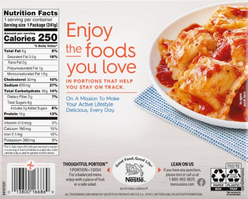 Lean Cuisine Favorites Cheese Ravioli Frozen Meal Perspective: back