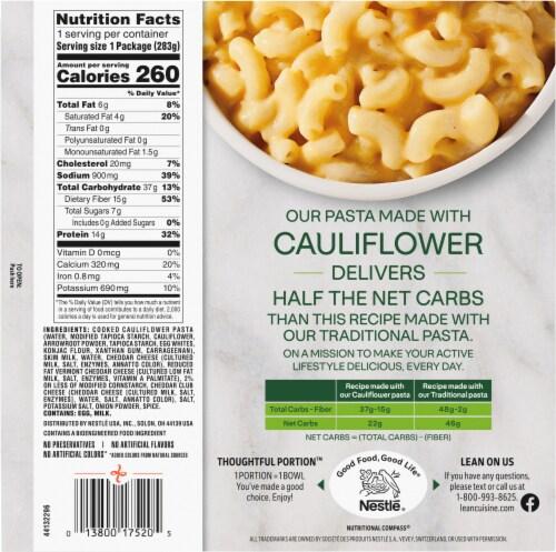 Lean Cuisine Cauli'Bowls Creamy Mac and Cheese Cauliflower Pasta Frozen Meal Perspective: back