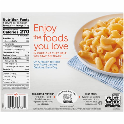Lean Cuisine® Favorites Macaroni & Cheese Frozen Meal Perspective: back