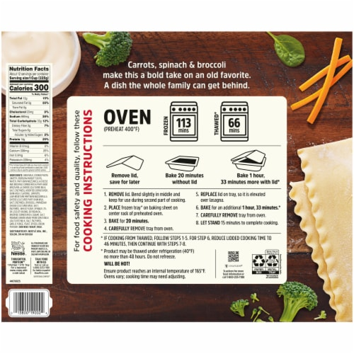 Stouffer's Party Size Veggie Lovers Lasagna Frozen Meal Perspective: back