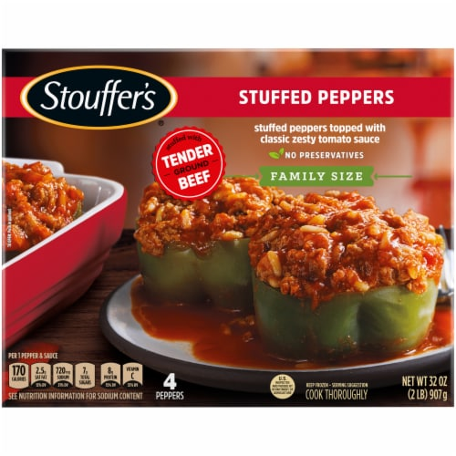 Stouffer's Family Size Stuffed Peppers Frozen Dinner Perspective: back