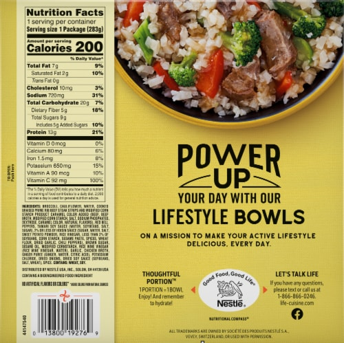 Life Cuisine™ Low Carb Riced Califlower Beef with Broccoli Bowl Perspective: back