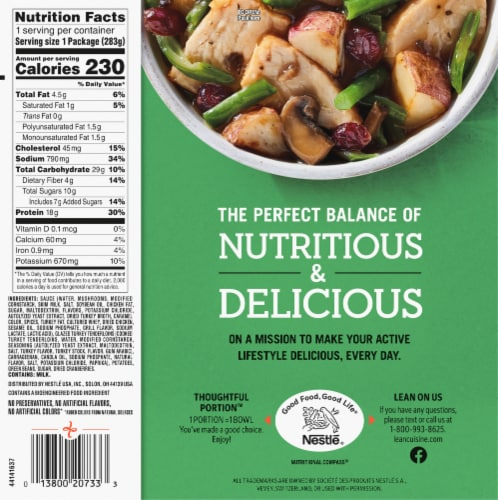 Lean Cuisine Bowls Roasted Turkey and Vegetables Frozen Meal Perspective: back
