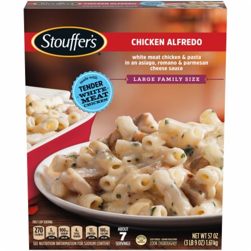 Stouffer's Large Family Size Chicken Alfredo Frozen Meal Perspective: back