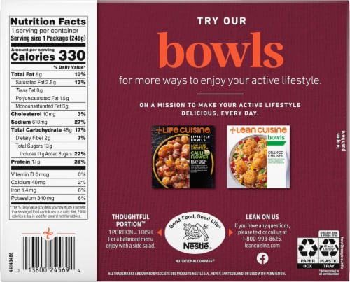 Lean Cuisine® Features Sweet & Spicy Korean-Style Beef Frozen Meal Perspective: back