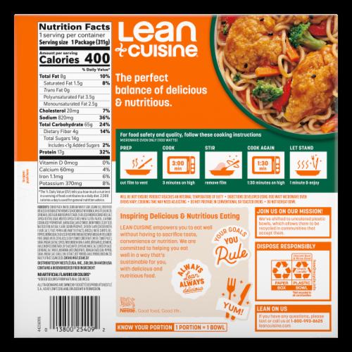 Lean Cuisine® Bowls Sesame Chicken Frozen Meal Perspective: back