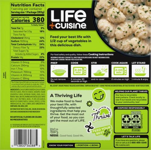 Life Cuisine Pesto Cauliflower Gnocchi Bowl Frozen Meal Perspective: back