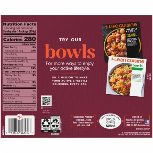 Lean Cuisine® Features Vermont White Cheddar Mac & Cheese Frozen Meal Perspective: back