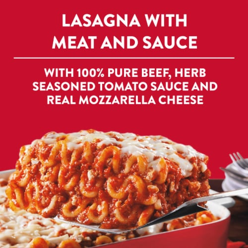 Stouffer's Party Size Lasagna with Meat & Sauce Frozen Meal Perspective: back