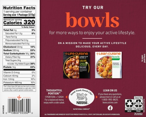 Lean Cuisine Features Apple Cranberry Chicken Frozen Meal Perspective: back