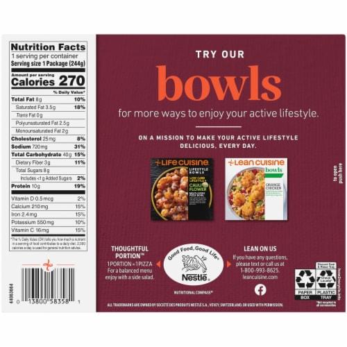 Lean Cuisine® Features Mushroom Mezzaluna Ravioli Frozen Meal Perspective: back