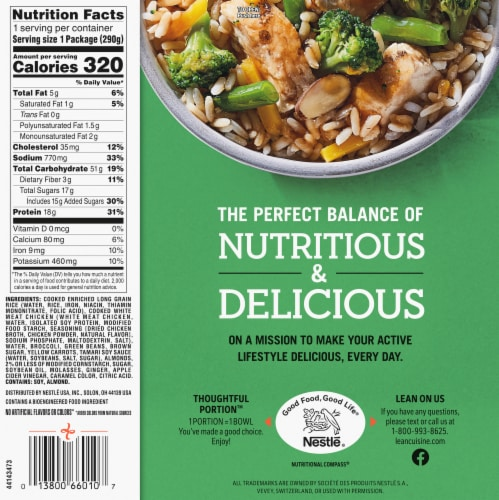 Lean Cuisine® Bowls Sticky Ginger Chicken Frozen Meal Perspective: back