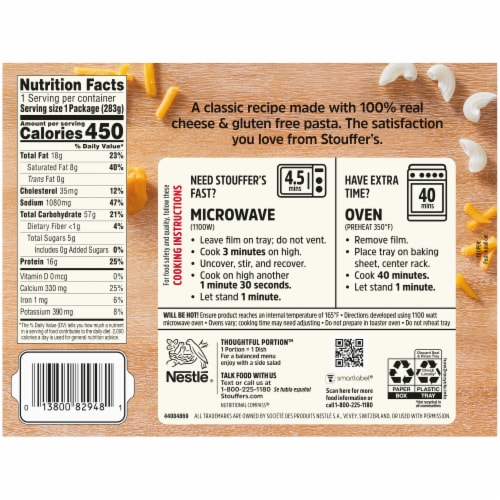 Stouffer's® Gluten Free Macaroni & Cheese Frozen Meal Perspective: back