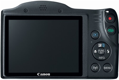 Canon PowerShot SX420 IS 20MP Digital Camera - Black Perspective: back