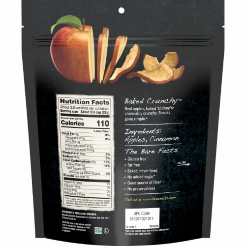 Bare Baked Crunchy Cinnamon Apple Chips Perspective: back