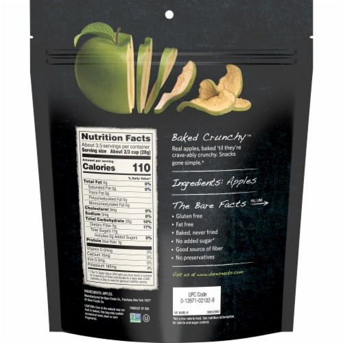 Bare® Baked Crunchy™ Gluten Free Granny Smith Apple Chips Perspective: back