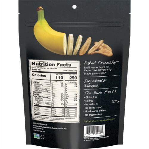 Bare Baked Crunchy Simply Banana Chips Perspective: back