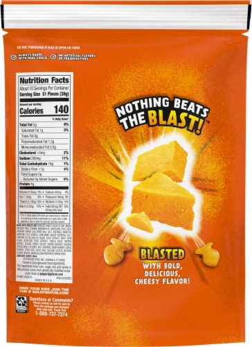 Pepperidge Farm® Flavor Blasted Xtra Cheddar Goldfish® Baked Snack Crackers Perspective: back