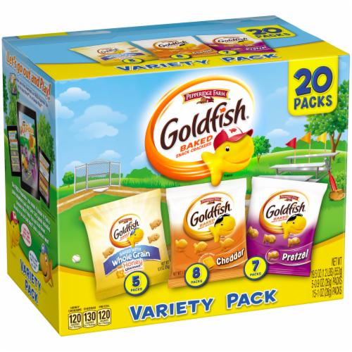 Goldfish Baked Snack Crackers Variety Snack Packs Perspective: back