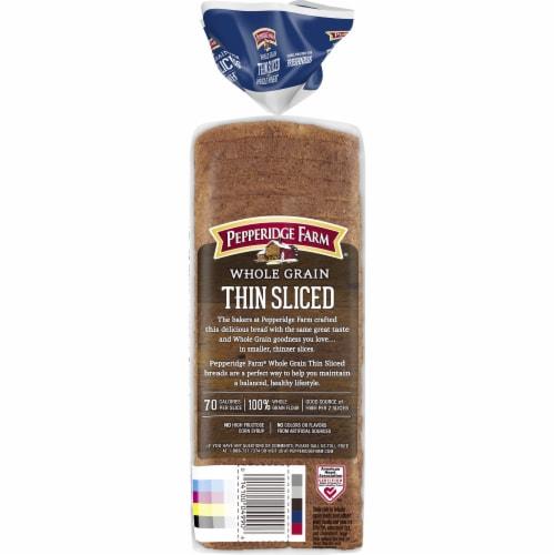 Pepperidge Farm Thin Sliced Whole Wheat Whole Grain Bread Perspective: back
