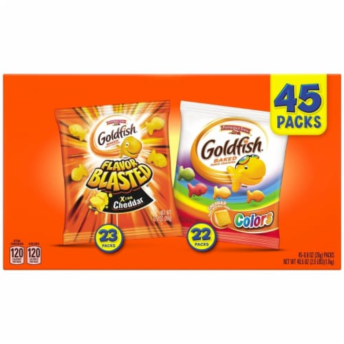Pepperidge Farm Goldfish Variety Pack (0.9 Ounce, 45 Count) Perspective: back