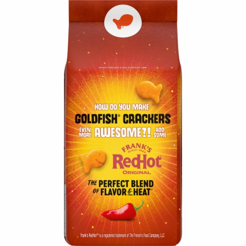 Goldfish Limited Edition Frank's RedHot® Baked Snack Crackers Perspective: back