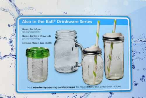 Ball® Drinking Mason Jars - 4 Pack Perspective: back