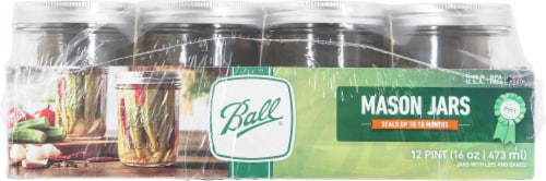 Ball® Wide Mouth Pint Jars Perspective: back