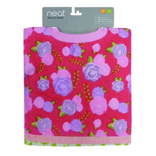 neat solutions Reactive Fiber Bib Set - Floral/Llama Perspective: back