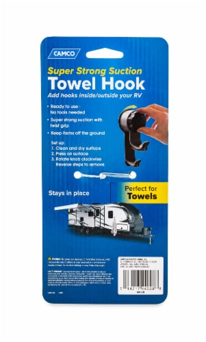 Camco RV Towel Hook Perspective: back