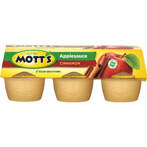 Mott's Cinnamon Applesauce Cups Perspective: back