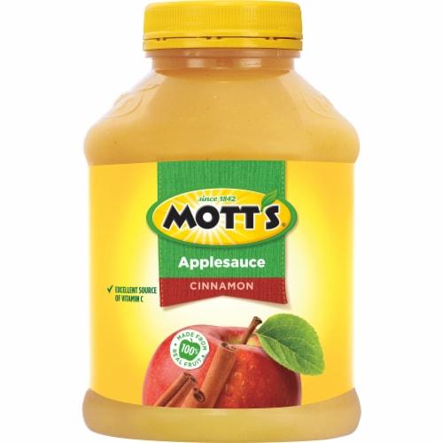Mott's Cinnamon Applesauce Jar Perspective: back