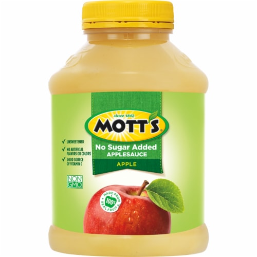 Mott's Unsweetened Applesauce Jar Perspective: back