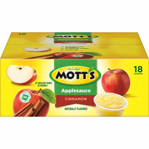 Mott's Cinnamon Applesauce Cups 18 Count Perspective: back