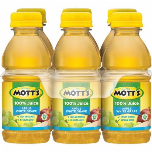 Mott's 100% Apple White Grape Juice Perspective: back