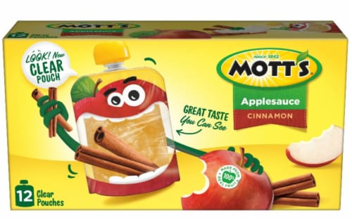 Mott's Cinnamon Applesauce Pouches Perspective: back