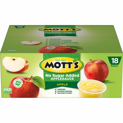 Mott's Unsweetened Applesauce Cups Perspective: back