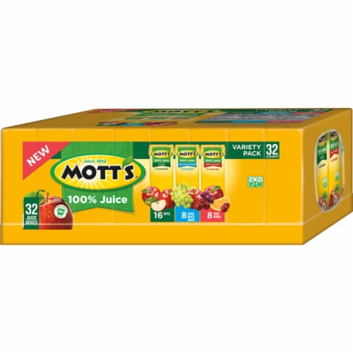 Mott's Apple Juice Variety Pack Perspective: back