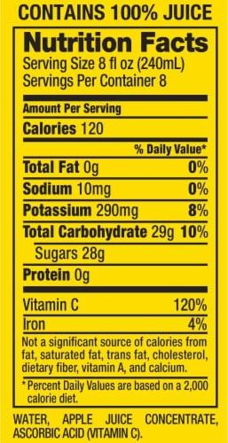 Mott's Natural 100% Apple Juice Perspective: back