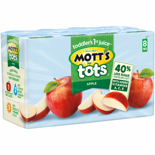 Mott's for Tots Apple Juice Boxes Perspective: back