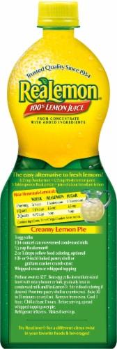 ReaLemon 100% Lemon Juice Perspective: back