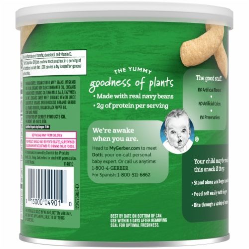 Gerber® Organic Lil' Crunchies White Cheddar Broccoli Baked Snack Perspective: back