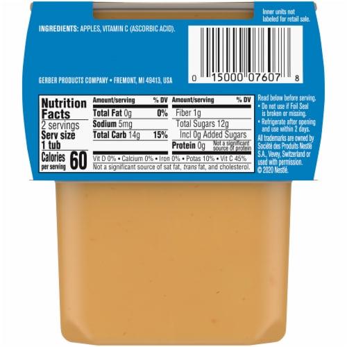 Gerber® 2nd Foods® Apple Stage 2 Baby Food Perspective: back