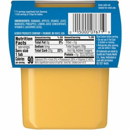 Gerber® 2nd Foods® Banana & Orange Medley Stage 2 Baby Food Perspective: back