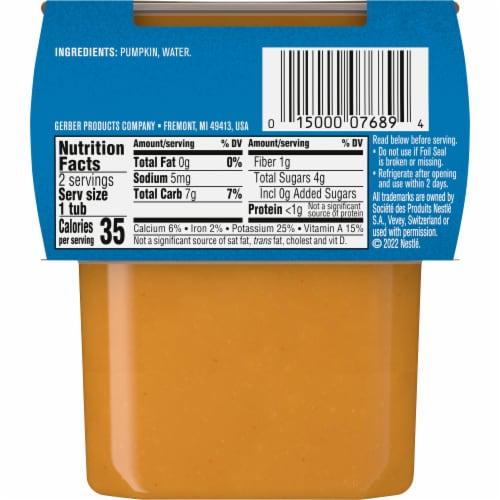Gerber® 2nd Foods Pumpkin Baby Food Perspective: back