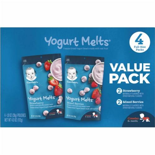 Gerber® Yogurt Melts Freeze-Dried Yogurt Snacks Perspective: back