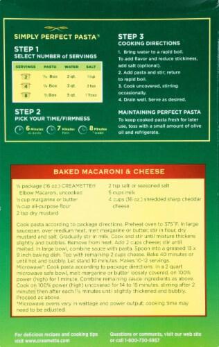 Creamette Elbow Macaroni Perspective: back